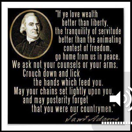 Image result for samuel adams quote crouch down